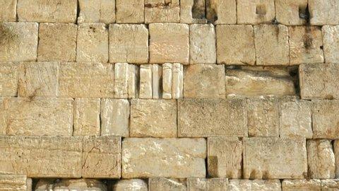 View of Western wall in Jerusalem. Israel