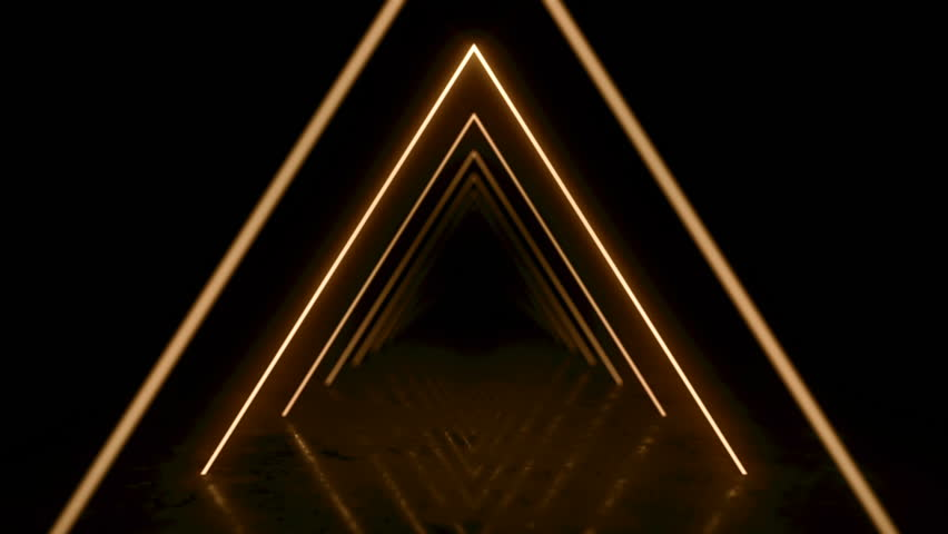 Abstract background with animation of flight in abstract futuristic tunnel with neon light. Animation of seamless loop.  #1025051444