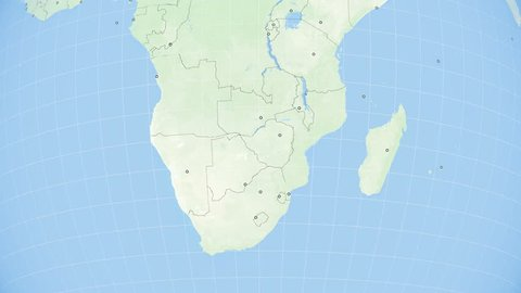 Map Of South Africa And Zimbabwe.South Africa Zimbabwe Map Stock Video Footage 4k And Hd Video