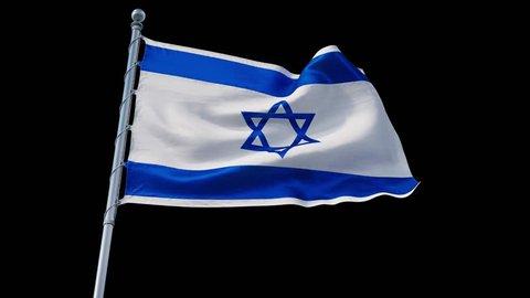 flag Israel 4k loop