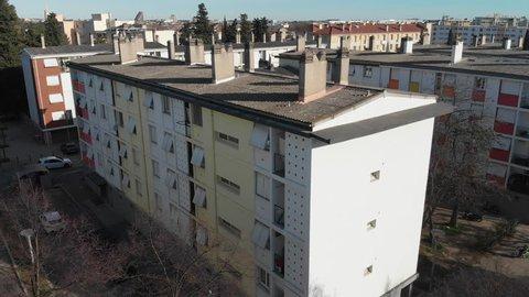 Montpellier District Figuerolles - Cité Gély Aerial Shot