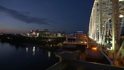 181 Nashville Downtown and river panning