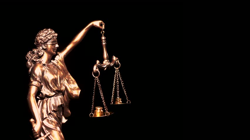 Themis, symbol of law with a measuring scale. Greek goddess of justice and order. | Shutterstock HD Video #1025722814