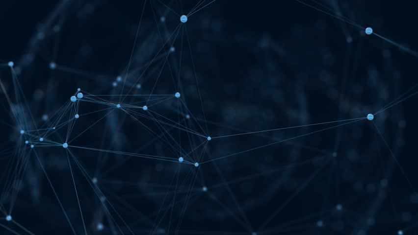 Dark blue plexus with depth of field | Shutterstock HD Video #1025745134