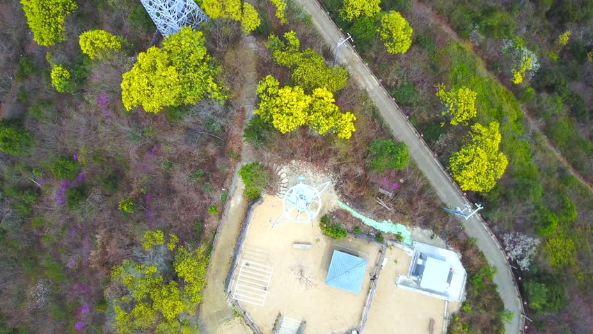 Aerial Shot of Bizen Hinase, Okayama, Japan. Communication Tower Raise | Shutterstock HD Video #1025876474