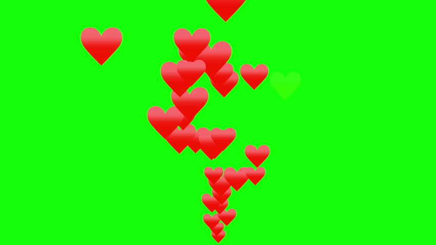 Green background with moving heart shape    Shutterstock HD Video #1025890244