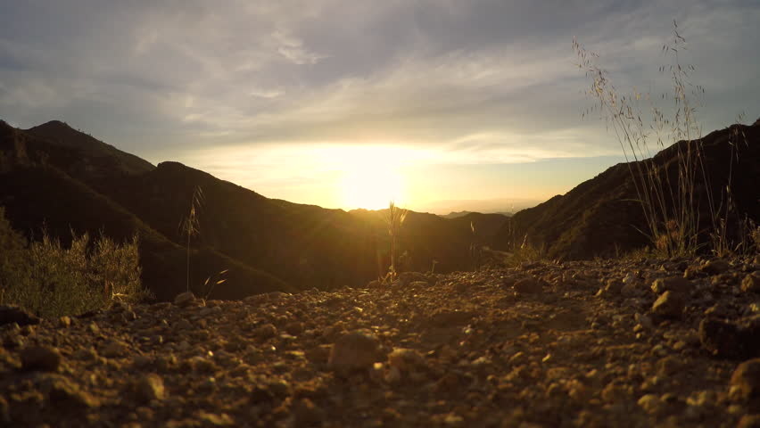 Little tujunga canyon sunset view time lapse | Shutterstock HD Video #1025941184