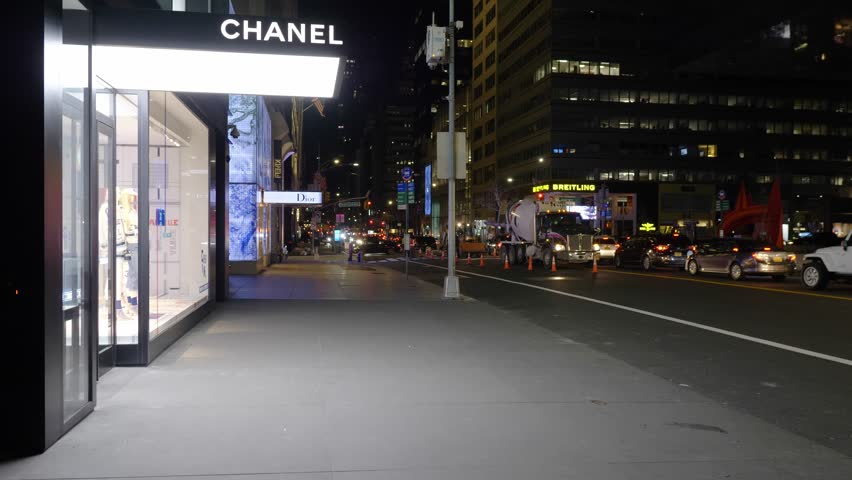New York City United States of America January 26th 2019_ Luxury fashion stores in Upper East part of New York City