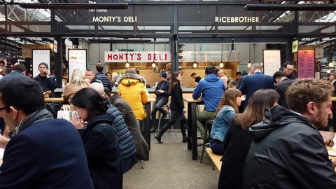 London Street Food Market Stock Video Footage - 4K and HD Video