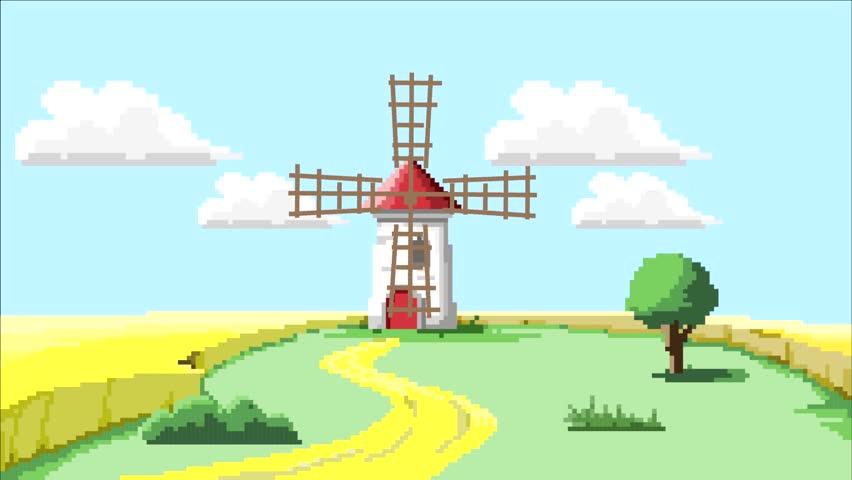 Awesome Pixel Art Landscape @KoolGadgetz.com
