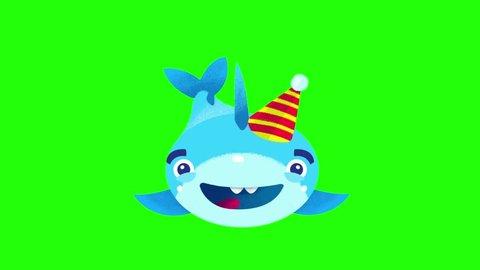 Shark Fish Cartoon Stock Video Footage 4k And Hd Video