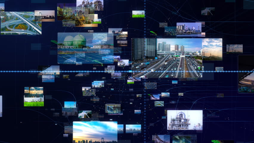 Industry and infrastructure concept. Smart city. Renewable energy. Transportation.   Shutterstock HD Video #1026295244