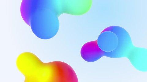Futuristic Organic Fx Designed Liquid Animated Shot. Aqua Colourful Liquid Gradients Video for Presentation. New Abstraction grade Form Composition. Minimalistic Cover Footage Stylish Sample Close up