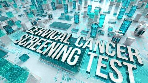 Cervical Cancer Screening Test with medical digital technology concept