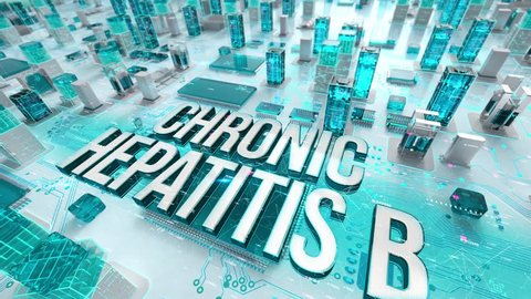 Chronic Hepatitis B with medical digital technology concept