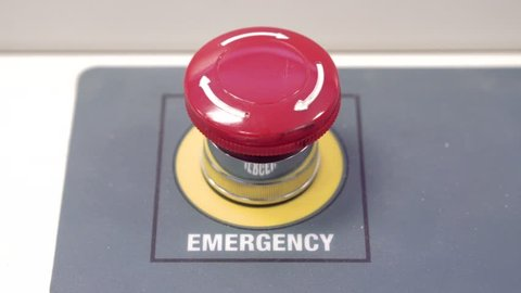 Close up of the red button.
