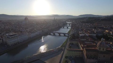 Arno River and Ponte Vecchio, Florence, Italy, EU, Europe