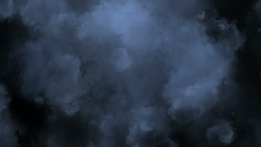 White smoke on a black background.?inematic animation background, flying through stormy clouds.