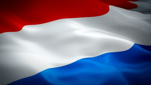 Netherlands waving flag. National 3d Holland flag waving. Sign of Dutch seamless loop animation. Holland flag HD resolution Background. Netherlands flag closeup 1080p Full HD video for presentation