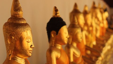 Buddha images in Thai temples