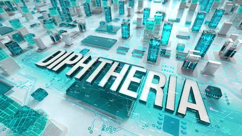 Diphtheria with medical digital technology concept