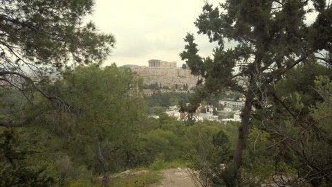 4K- Walk And Panoramic View To Parthenon Acropolis, Athens, Greece, Europe