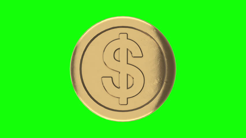 Rotation gold coin with dollar sign. Symbol about finance and money. On green screen background. seamless looping 3d animation. 3d animation. | Shutterstock HD Video #1028204564