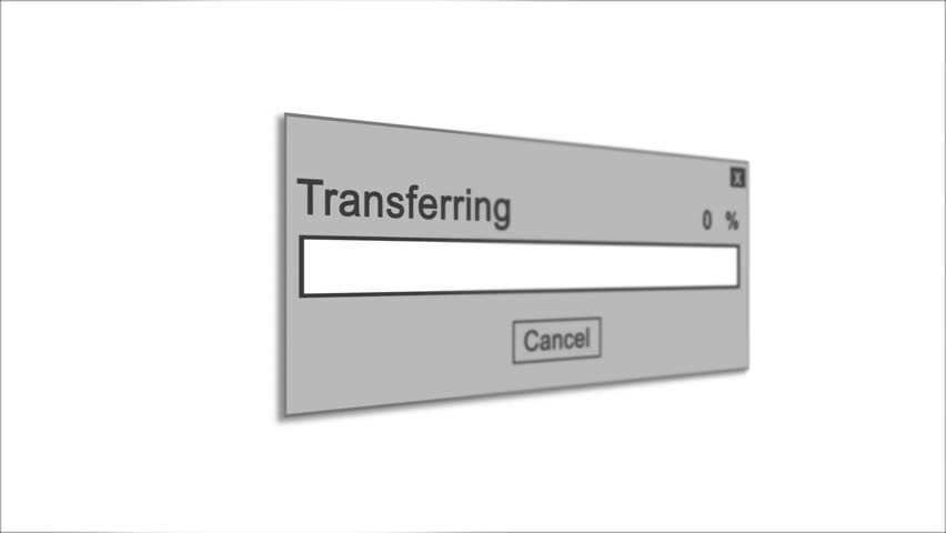 Transferring Process Animation on White Background | Shutterstock HD Video #1028308514