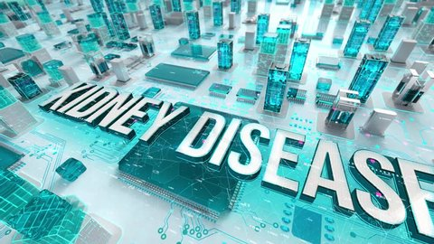Kidney Disease with medical digital technology concept