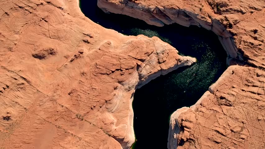 Aerial view of Lake Powell within Glen Canyon National Park | Shutterstock HD Video #1028482544