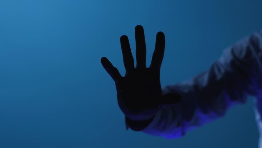 The digital world and technology. Security scanning of digital programs and fingerprint biometrics. Futuristic processing of biometric fingerprint`s scanner. Slowmotion. Shot on Arri Alexa Mini | Shutterstock HD Video #1028530184