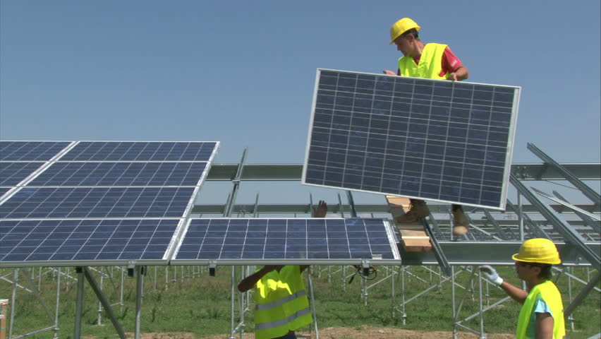 Solar Panel Footage Stock Clips