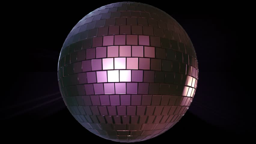 Light music disco ball animation on black background. Render disco ball in nightclub with shiny effects | Shutterstock HD Video #1028801504