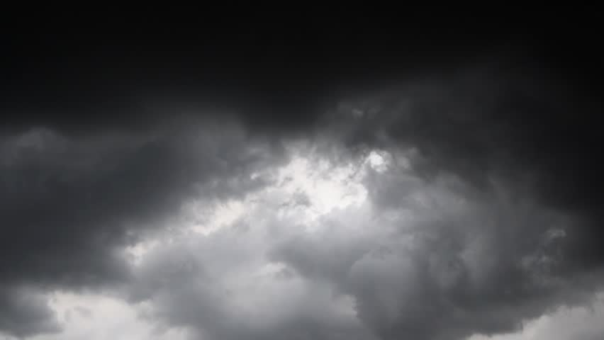 The movement of black clouds before rain, Storm Clouds Area, Black clouds form above the sky before exceeding the storm. | Shutterstock HD Video #1028975624