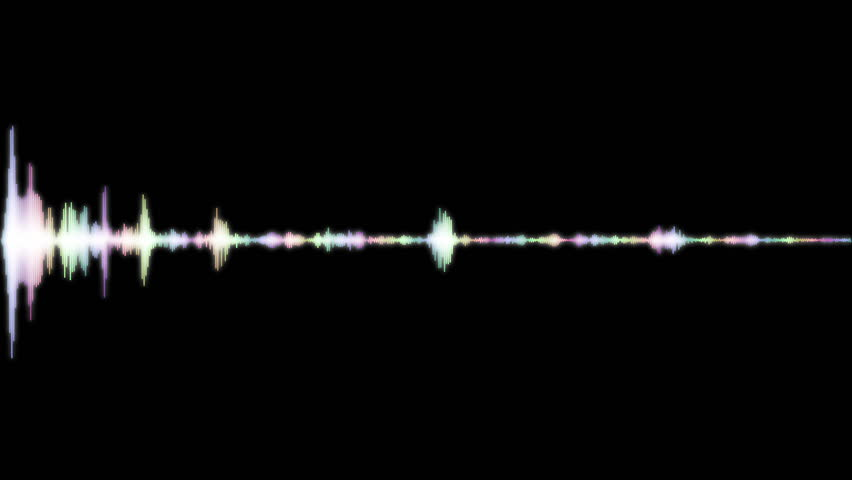 Digital audio spectrum sound wave effect, for music party, 4k footage | Shutterstock HD Video #1029033224