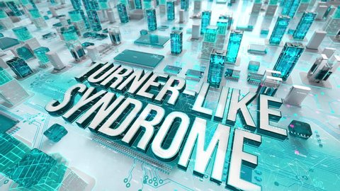 Turner-Like Syndrome with medical digital technology concept