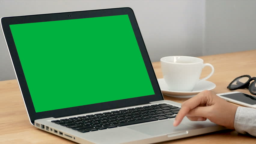 4K. close-up woman working with notebook laptop, using finger with keyboard and touchpad for slide and zoom in, zoom out. computer laptop with blank green screen chroma key. | Shutterstock HD Video #1029398474