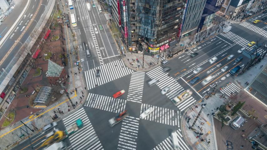 Tokyo, Japan - Mar 19, 2019: 4k timelapse video of busy crosswalk in Tokyo | Shutterstock HD Video #1029552824