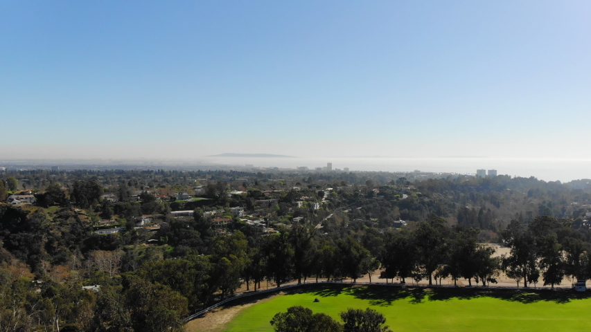 Panorama View of Santa Monica from hills