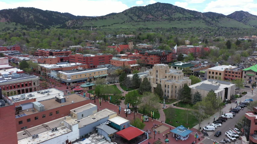 Aerial of Boulder downtown Colorado   Shutterstock HD Video #1029634514