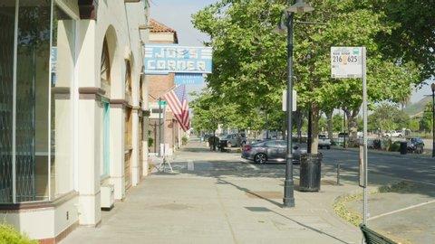 Fremont, Ca / USA - 4/27/19: Joe's Corner in Fremont California, before it opens.