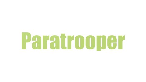 Paratrooper Wordcloud Looping Animated Isolated