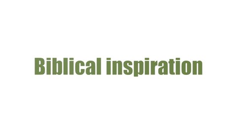 Biblical Inspiration Word Cloud Animated On White Background