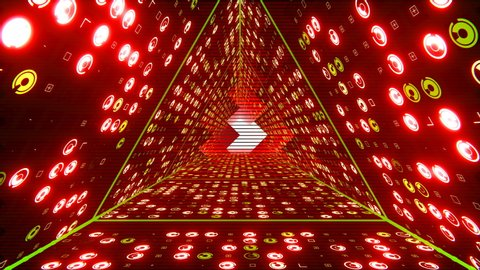 Seamless loop 3D animation for VJ editors, motion designers, visual projections of the concert, fashion show, stage design, party or your presentation, DVD, music clips or video art