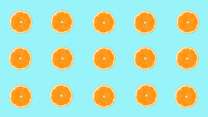 Minimal motion design animation. Oranges wiggle color background. Abstract graphics in trendy colors and style. Seamless looping animation. | Shutterstock HD Video #1030093484