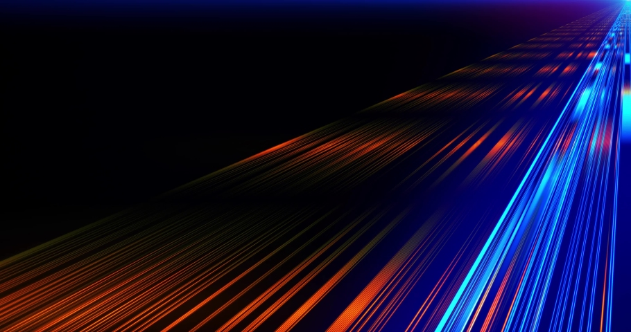 Flight in laser beam Fast Energy streaks VJ Lasers, background. Geometric background. Moving energy. Retro neon colors. Colorful backdrop. Neon lights. Orange and Blue. | Shutterstock HD Video #1030105004