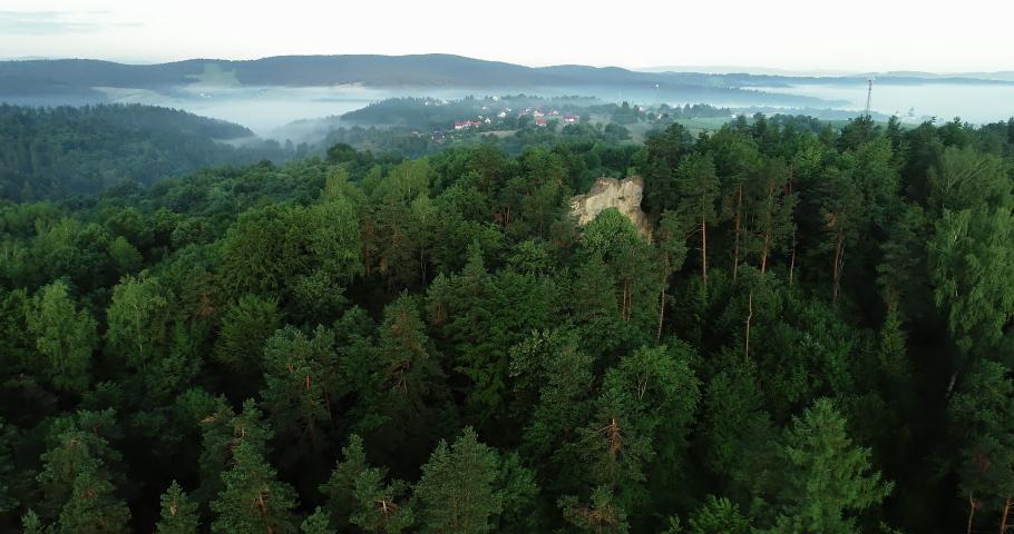 Drone footage of the Kamie Leski landscape. | Shutterstock HD Video #1030240214