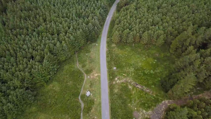 Drone Video Dublin Mountains in Ireland   Shutterstock HD Video #1030327334