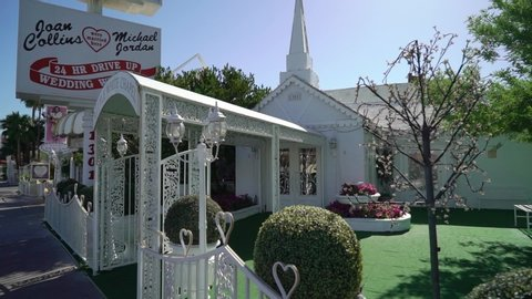 LAS VEGAS, USA - MAY 13, 2019: Little wedding chapel in Vegas