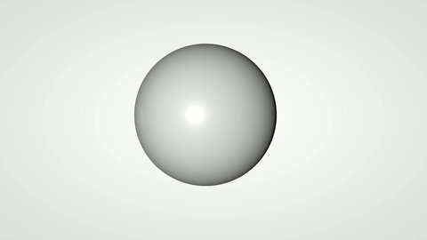 3D animation of the movement of many small balls in weightlessness and their collision with a large one.